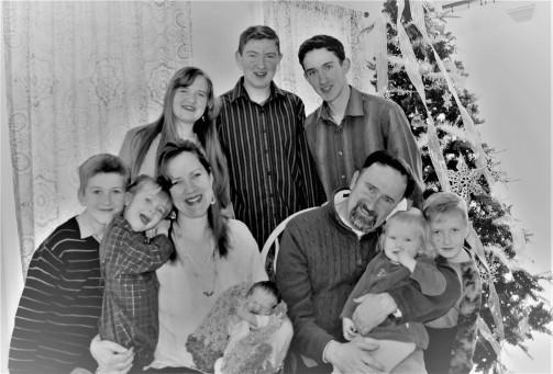 Family Fun- B&W